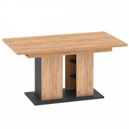 Tempo Kondela Jídelní stůl FIDEL - dub zlatý/grafit šedá