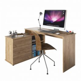 Tempo Kondela Univerzální rohový PC stůl TERINO - dub artisan