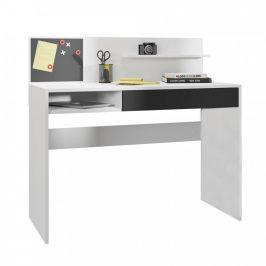 Tempo Kondela PC stůl IMAN - bílá/černá
