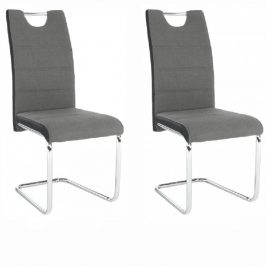 Tempo Kondela Židle IZMA - tmavě šedá, 2 kusy
