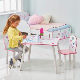 Moose Dětský stůl s židlemi Květiny