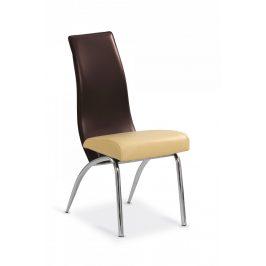 Halmar Jídelní židle K2 - béžová/tmavě hnědá