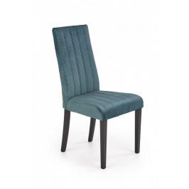 Halmar Jídelní židle DIEGO 2 - černá/tmavě zelená