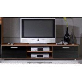 Cama Televizní stolek Zara - švestka/černý