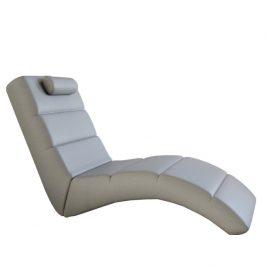 Tempo Kondela Relaxační křeslo LONG - ekokůže šedá