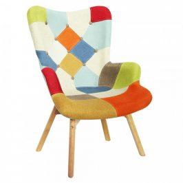 Tempo Kondela Designové křeslo KAPRUN - barevný patchwork