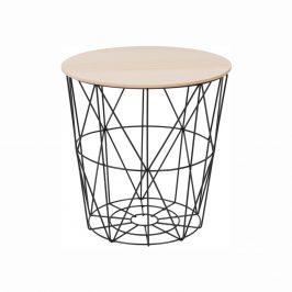Tempo Kondela Příruční stolek NANCER TYP 3 - přírodní/černá