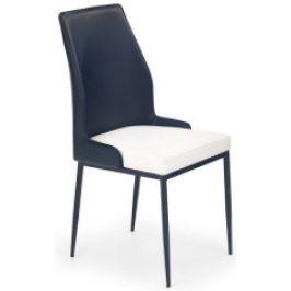 Halmar Jídelní židle K199 Černá/bílá