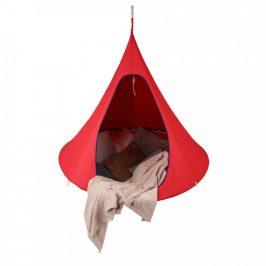 Tempo Kondela Závěsné houpací křeslo KLORIN NEW CACOON HAMMOCK, červená KLASIC