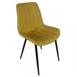 Tempo Kondela Židle HAZAL - žlutá/černá
