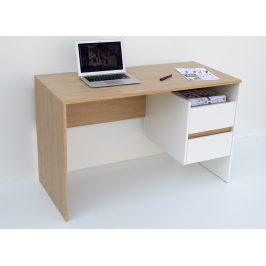 Casarredo Pracovní stůl OMENA 2S, barva sonoma/bílá