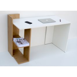 Casarredo Pracovní stůl OMENA SHELF - dub sonoma/bílá
