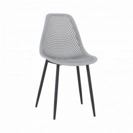 Tempo Kondela Jídelní židle TEGRA - šedá/černá