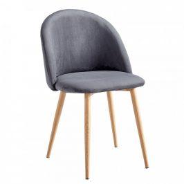 Tempo Kondela Jídelní židle FLUFFY - světle šedá
