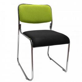Tempo Kondela Konferenční židle BULUT - zelená/černá