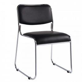 Tempo Kondela Konferenční židle BULUT - černá ekokůže
