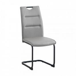 Tempo Kondela Jídelní židle MEKTONA - světle šedá/černá