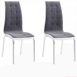 Tempo Kondela Jídelní židle GERDA NEW - tmavě šedá/bílá, 2 kusy