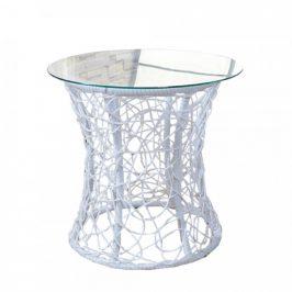 Tempo Kondela Příruční stolek SALMAR NEW - bílý