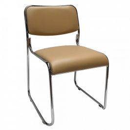 Tempo Kondela Konferenční židle BULUT - hnědá ekokůže