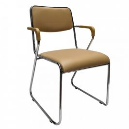 Tempo Kondela Konferenční židle DERYA - hnědá ekokůže