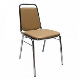 Tempo Kondela Konferenční židle ZEKI - hnědá ekokůže