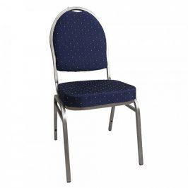 Tempo Kondela Židle JEFF 3 NEW - látka modrá/šedý rám
