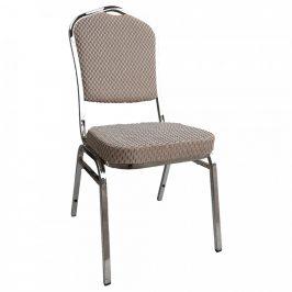 Tempo Kondela Židle ZINA 3 NEW - béžová/chrom