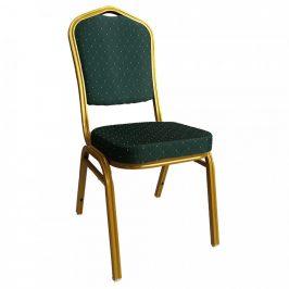 Tempo Kondela Židle ZINA 3 NEW - zelená/zlatý nátěr
