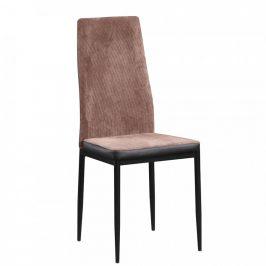 Tempo Kondela Jídelní židle ENRA - tmavohnědá/černá
