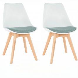 Tempo Kondela Židle DAMARA, 2 kusy - bílá/zelená