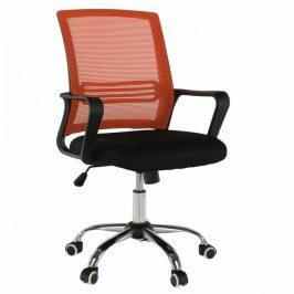 Tempo Kondela Kancelářská židle APOLO - oranžová/černá