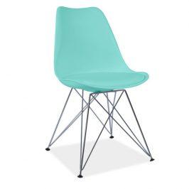 Tempo Kondela Židle METAL NEW - mentolová/chrom