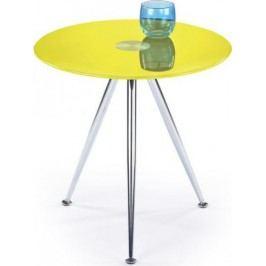 Halmar Odkládací stolek Siena Žlutý