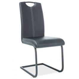 Casarredo Jídelní čalouněná židle H-148 černá/černá