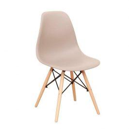 Tempo Kondela Židle CINKLA 3 NEW - teplá šedá / buk