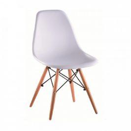 Tempo Kondela Židle CINKLA 3 NEW - bílá / buk