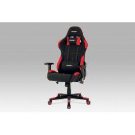 Autronic Kancelářská židle KA-F02 RED - černá + červená látka