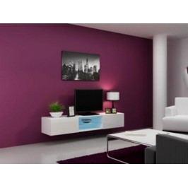 Cama Televizní stolek VIGO Glass 180 - bílá