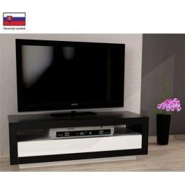Tempo Kondela Televizní stolek AGNES - černá / bílá