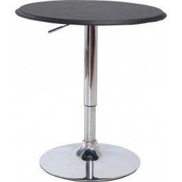 Tempo Kondela Barový stůl BRANY - chrom / černá