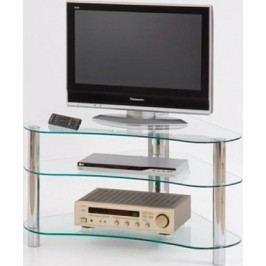 Halmar Televizní stolek RTV-13 - čiré sklo