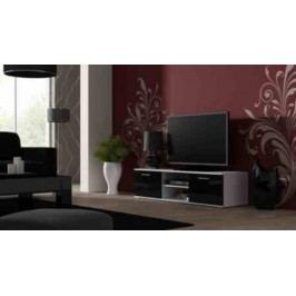 Cama Televizní stolek SOHO 140 - bílá/černá
