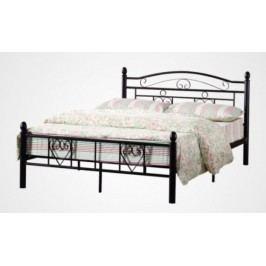 Tempo Kondela Kovová postel BRITA s lamelovým roštem  - černá