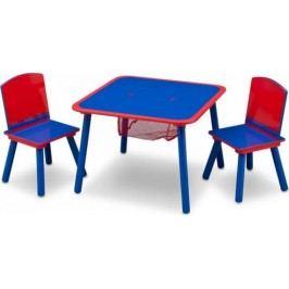 Forclaire Dětský stůl s židlemi modro-červený