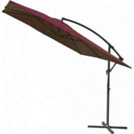 Rojaplast Slunečník kovový 8080 - 270cm- bordó