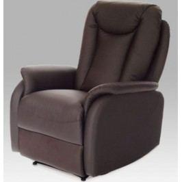 Autronic Relaxační křeslo TV-7039 BR - Ekokůže hnědá + kupón KONDELA10 na okamžitou slevu 10% (kupón uplatníte v košíku)
