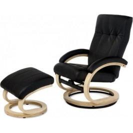 Autronic Relaxační křeslo TV-8763 BK BK - koženka černá/natural + kupón KONDELA10 na okamžitou slevu 10% (kupón uplatníte v košíku)