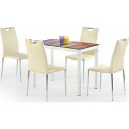 Halmar Jídelní stůl Argus Béžové sklo + kupón KONDELA10 na okamžitou slevu 10% (kupón uplatníte v košíku) Jídelní stoly