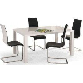 Halmar Jídelní stůl Ronald Bílý 120-160x80 cm + kupón KONDELA10 na okamžitou slevu 10% (kupón uplatníte v košíku)